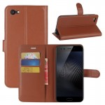vivo X9s Plus Litchi Texture Horizontal Flip Leather Case with Holder & Card Slots & Wallet (Brown)