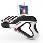 A8 AR Gun Shaped Bluetooth Wireless Game Controller with Phone Clip for Android / iOS Devices / PC