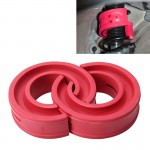 2 PCS Car Auto F -Type Shock Absorber Spring Bumper Power Cushion Buffer(Red)