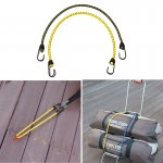 2 PCS Outdoor Tent Crude Elastic Rope Tied High Luggage Rope Clothesline Camping, Length: 60cm, Diameter: 8mm, Random Color Deli