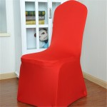 Elastic Chair Cover Weddings Banquet Restaurant Chair Covers(Red)