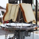 Outdoor Camping Tools 4 Slice Stainless Steel Camping Foldable Toaster Rack Toaster Tray Bread Toast Rack