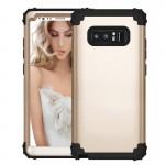 For Samsung Galaxy Note 8 Silicone + PC Dropproof Combination Protective Case(Gold)