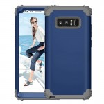 For Samsung Galaxy Note 8 Silicone + PC Dropproof Combination Protective Case(navy)