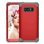 For Samsung Galaxy Note 8 Silicone + PC Dropproof Combination Protective Case(Red)