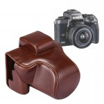 Full Body Camera PU Leather Case Bag with Strap for Canon EOS M5 (Coffee)