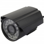 CMOS 420TVL 6mm Lens Metal Material Color Infrared Camera with 24 LED, IR Distance: 20m