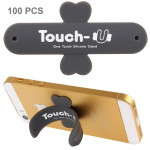 100 PCS Touch-u One Touch Universal Silicone Stand Holder for iPhone 5 & 5C & 5S / iPhone 4 & 4S / Samsung Galaxy S IV / Galaxy
