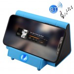 SY317A Portable Phone Stand Wireless Induction Stereo Speaker, Support Hands-free Calls & AUX IN(Blue)