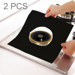 2 PCS Teflon Gas Furnace Surface Ultra-thin Fibre Material Stovetop Protective Cleaning Pad, Size: 27*27 cm (Black)