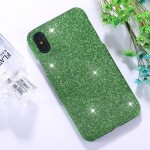 For iPhone X Glitter Powder Paste Protective Back Cover Case (Green)