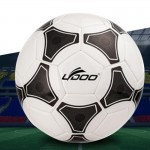 Ballon noir et blanc 19cm cuir PU couture portable match de football + - Wewoo