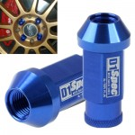 20x D1 Spec P1.25 Racing Wheel Nut, Length: 50mm (20pcs in one packaging, the price is for 20pcs), Blue(Blue)