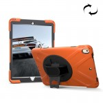 For iPad Pro 10.5 inch 360 Degree Rotation PC + Silicone Protective Case with Holder & Hand-strap (Orange)