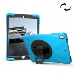 For iPad Pro 10.5 inch 360 Degree Rotation PC + Silicone Protective Case with Holder & Hand-strap (Baby Blue)