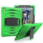 For iPad Pro 10.5 inch Wave Texture Series PC + Silicone Protective Case with Holder (Green)