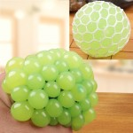 6cm Anti-Stress Face Reliever Grape Ball Extrusion Mood Squeeze Relief Healthy Funny Tricky Vent Toy(Green)