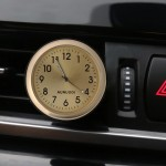 Car Outlet Clock Car Luminous Material Car Clock Car Electronic Watch Car Air Conditioning Outlet Perfume Ornaments with Balm(Go