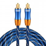 EMK LSYJ-A 2m OD6.0mm Gold Plated Metal Head Toslink Male to Male Digital Optical Audio Cable