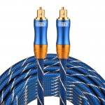EMK LSYJ-A 10m OD6.0mm Gold Plated Metal Head Toslink Male to Male Digital Optical Audio Cable