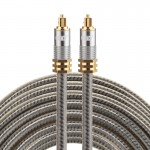 EMK YL-A 8m OD8.0mm Gold Plated Metal Head Toslink Male to Male Digital Optical Audio Cable