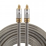 EMK YL-A 10m OD8.0mm Gold Plated Metal Head Toslink Male to Male Digital Optical Audio Cable