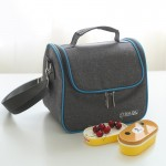 Oxford Cloth Thermal Insulation Cooler Lunch Bag Picnic Bento Box, Size: 22*16*20cm
