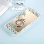 For Samsung Galaxy A5 (2017) Diamond Encrusted Electroplating Mirror Protective Cover Case with Ring Holder(Gold)