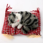 Lovely Simulation Animal Doll Plush Sleeping Cats Toy Cat Mat Doll Decorations Stuffed Toys Car Decoration Crafts, Mat Size: 19*