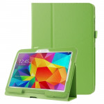 Litchi Texture Flip Leather Case with Holder for Samsung Galaxy Tab 4 10.1 / T530 (Green)