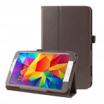 Litchi Texture Flip Leather Case with Holder for Samsung Galaxy Tab 4 7.0 / T230 / T231 / T235(Brown)