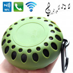 Outdoor Sports Portable Waterproof Bluetooth Speaker with Hang Buckle, Hands-free Call, NFC Function, BTS-25OK (Army Green)