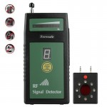 Suresafe SH-055U8LP Auto Threshold RF Signal Detector Camera Detector with 8 LEDs, Detection Frequency: 50 MHz-6.0 GHz, US/EU/UK