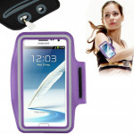 Universal PU Sports Armband Case with Earphone Hole for Samsung Galaxy Note 4 / N910 / Note III / N9000 / II / N7100 / i9220 / N