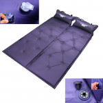 Automatic Inflatable Sleeping Pad, Moisture Proof Pad with Pillow(Purple)
