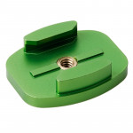 TMC Aluminum Flat Surface Mount Tripod Adapter for GoPro Hero 4 / 3+ / 3 / 2 / 1(Green)