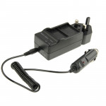 3 in 1 Digital Camera Dual Battery Car Charger for GoPro HERO 3+ / 3 AHDBT-201 / AHDBT-301 (UK Plug)