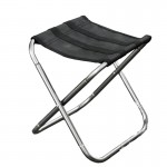 Outdoor Portable Folding Stool, Size: 25*22*26cm(Silver)