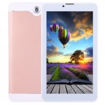 Tablette Tactile or rose 7 pouces Tactile, 512 Mo + 8 Go, Appel 3G, Android 4.4.2, MTK6582 Quad Core 1,3 GHz, double SIM, WiF...