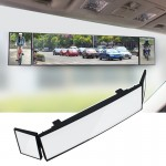 SHUNWEI Large Car Three-Fold Curve Surface Rear View Mirror Reverse Wide Angle Adjustable Angle Auxiliary Blind Area Retroreflec