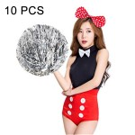 10 PCS Square Dance Aerobics Cheerleading Ball Hand Flower Bouquet, Ribbon Length: 28cm (Silver)