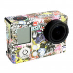 Cartoon Graffiti Pattern Plan B Case Sticker for GoPro Hero 3+ / 3