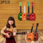 2 PCS Children Music Enlightenment Ukuleles, Size: 36.5*11.5cm, Random Color Delivery