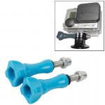 2 PCS TMC HR171 Plastic 5.5cm Thumb Screw for GoPro HERO4 /3+ /3 /2 Cameras(Blue)