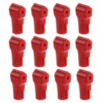 12 PCS 5.0mm Red ABS Display Hook / Security Lock Hook