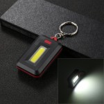 3W Portable Small White Light COB LED Flashlight with Key Chain, Random Color Delivery
