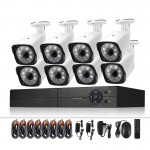 A8B3 / Kit 8CH 1080N Surveillance DVR System and 720P 1.0MP HD Weatherproof Bullet Camera, Support Infrared Night Vision & P2P &