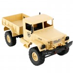 WPL B-1 DIY Assembly 1:16 Mini 4WD RC Military Truck Control Car Toy (Yellow)