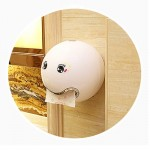 Creative Tryitgo Expressions Pattern Bathroom Waterproof Toilet Paper Tray Tissue Holder, Size: 16.5*18.5cm (White)