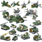 KAZI 16 in 1 Sets Military Army Weapon Building Block Educational Toys, Age Range: 6 Years Old Above